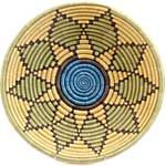 African Basket - Rwanda Sisal Coil Weave Bowl - 12 Inches Across - #42256