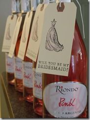 Will you be my bridesmaid? (how can you say no when there's a bottle of wine attached to the demand?)