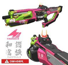ArtStation - Weapon design X 5, ACE Zheng Anime Weapons, Sci Fi Weapons, Weapons Guns, Fantasy Weapons, Robot Concept Art, Weapon Concept Art, Prop Design, Game Design, Cyberpunk