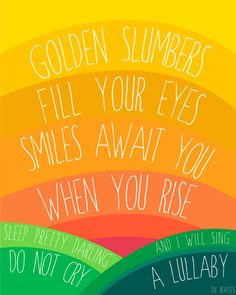 The Beatles. Golden Slumbers Fill Your Eyes, 8x10 Illustrated Print #nursery #kidsroom #beatles