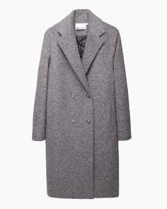 T by alexander wang Reversible Nylon Felt Coat in Gray (Grey/Black)