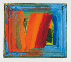 From William Shearburn Gallery, Howard Hodgkin, Bamboo Silkscreen, 33 × 36 in Contemporary Abstract Art, Modern Art, Patrick Heron, Howard Hodgkin, Painter Artist, Abstract Expressionism, Yorkie, Fine Art, Abstract Paintings