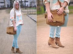Isabel Marant Boots, Zara Bag, Mango Jumper, Zara Jeans