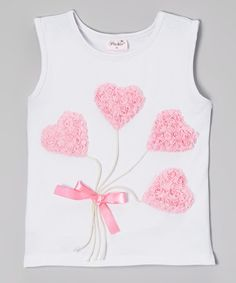 Take a look at this White Heart Balloon Tank - Infant, Toddler & Girls on zulily today!