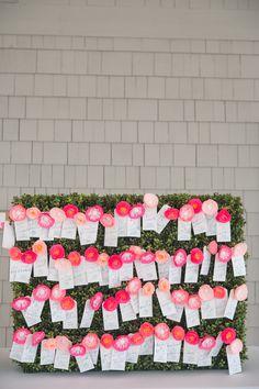 floral escort cards | Meaghan Elliot #wedding