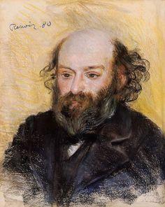 Paul Cezanne by Pierre-Auguste Renoir 1880