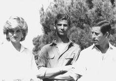 "ladyarthuria: "" Charles & Diana with Felipe (now King Felipe VI) """