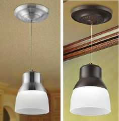 Battery operated pendant lights if you need some and dont or cant add light wherever you need it with this battery powered led ceiling fixture mozeypictures Images