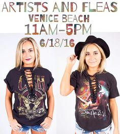 WEBSTA @ shoptrendyandtipsy - 🌴VENICE BEACH🌴 Join us tomorrow for @artistsandfleas over on Abbot Kinney!! We have a ton of new lace up vintage tees and more styles to shop from!!! See you tomorrow LA babes!! #✨🌻✌🏻️ #trendyandtipsy #afinla #la #venicebeach #abbottkinney #vintage #artistsandfleas