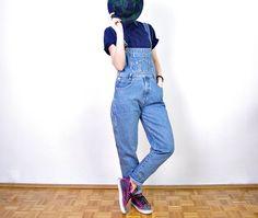 90s JORDACHE Denim Overalls. Women Blue Jean Workwear. Boyfriend Hip Hop Oversized Style by Only1Copy on Etsy