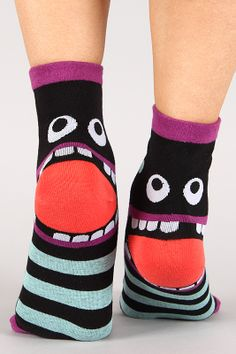 Silly Monster Socks #LOL #monstersocks