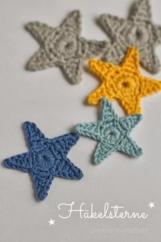 Bees and Appletrees (BLOG): gehaakte (kerst)sterren - crochet (x-mas)stars