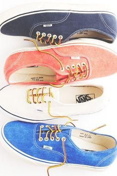 everyday summer shoes. I like that these are almost like Oxfords, but still Vans