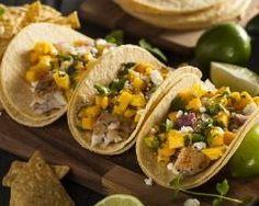 Tacos cabillaud, mangue et feta http://www.cuisineaz.com/recettes/tacos-cabillaud-mangue-et-feta-82434.aspx