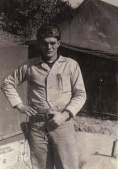 Uncle Gene in Korea during the war.