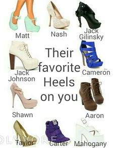 Magcon preference their favorite Heels on you ♡
