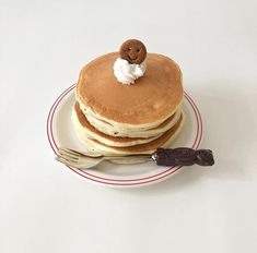 Find images and videos about cute, pink and food on We Heart It - the app to get lost in what you love. Pancakes No Milk, Greek Yogurt Pancakes, Waffles, Think Food, I Love Food, Good Food, Yummy Food, Cute Desserts, Cafe Food