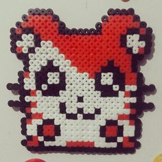 made Hamtaro using beads :D