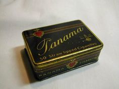 Panama Straw tipped Cigarettes tillverkat av Strengbergs i Köpenhamn