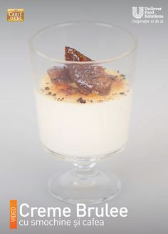 CREME BRULEE CU SMOCHINE SI CAFEA Pudding, Desserts, Food, Tailgate Desserts, Deserts, Eten, Puddings, Postres, Dessert