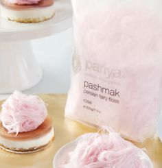 """Persian Fairy Floss"" - gourmet rose-flavored cotton candy. I can't decide whether I want to spin this up or eat it!"