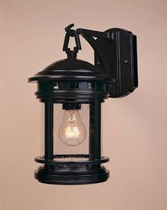 """Designers Fountain 2371-ORB 1 Light 7"""" Cast Aluminum Wall Lantern from the Hanov Oil Rubbed Bronze w/seedy Outdoor Lighting Wall Sconces Outdoor Wall"""
