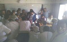 #موسوعة_اليمن_الإخبارية منظمة دولية تزور نازحي كرش وتلتزم بتقديم المساعدات لهم