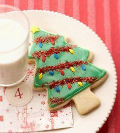 Παιδικό πάρτυ- Γλυκά: Ιδέες γαι χριστουγεννιάτικα μπισκότα! Cut Out Cookie Recipe, Butter Cookies Recipe, Cut Out Cookies, Cookie Recipes, Dessert Recipes, Iced Cookies, Cake Cookies, Make Powdered Sugar, Dinner Party Desserts