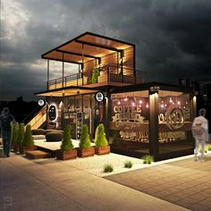 Design of container cafe MENTION Design and renders: . - Design of container cafe MENTION Design and renders: - Café Design, Kiosk Design, House Design, Shipping Container Restaurant, Shipping Container Design, Shipping Containers, Container Coffee Shop, Container Shop, Container Cabin