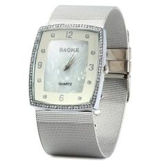 SHARE & Get it FREE | BAOHE Shell Face Female Diamond Quartz WatchFor Fashion Lovers only:80,000+ Items·FREE SHIPPING Join Dresslily: Get YOUR $50 NOW!