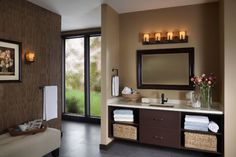 Here are my favorite Small Bathroom Design Ideas to help you get the most out of your tiny space. Choosing a small bathroom design and function for your entire family can… Black Vanity Bathroom, Best Bathroom Vanities, Brown Bathroom, Small Bathroom, Grey Bathrooms, Oak Bathroom, Mirror Vanity, Glass Vanity, Light Bathroom