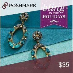 SILPADA EARRINGS Swarovski crystal earrings by silpada  perfect with the posey necklace. Jewelry Earrings