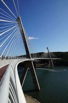 Térénez Bridge in France has the longest curved span for a cable-stayed bridge