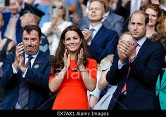 Wimbledon, UK. 08th July, 2015. HRH Duke and Duchess of Cambridge applaud at #Wimbledon tennis championships. © Action Plus Sports/Alamy Live News