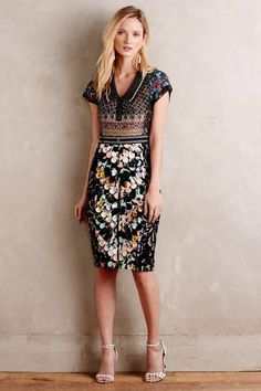 10eed22e Details about Anthropologie Carissima Sheath Dress By Byron Lars In Gray  Size 12P