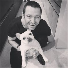 When he let Hugh awkwardly hold him. | Community Post: 23 Times Hugh Jackman's Dog Was Unbearably Cute