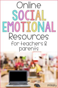 This list of social-emotional learning online resources provides teachers with meaningful online tools to share with parents and use for distance learning, homeschooling, and 1:1 classroom learning. Try some of the online games and SEL activities. There are lots of teaching tips for character education and SEL lessons! Social Emotional Activities, Social Emotional Development, Leadership Activities, Physical Education Games, Learning Resources, Teacher Resources, Group Activities, Teaching Respect, Teaching Social Skills