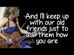 Last Kiss (Live) - Taylor Swift - Lyrics
