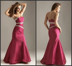 2015 Elegant Red Mermaid Evening Gowns Strapless Sequins Backless Formal Dresses Taffeta Ruched Floor Length Prom Dress Custom Made,http://www.dhgate.com/product/2015-elegant-red-mermaid-evening-gowns-strapless/217599629.html