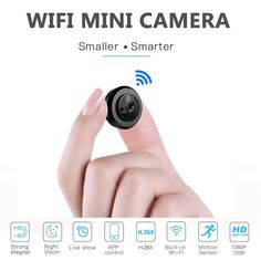 The Mini WiFi Camera is your solution to remote recording! Measuring at only this tiny camera is portable, wireless, and will connect easily to your home or office WiFi network… Wireless Home Security Systems, Security Alarm, Security Camera, House Security, Security Products, Security Tips, Wifi, Dslr Photography Tips, Wildlife Photography