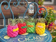 이오난사 파인애플화분 : 네이버 블로그 Macrame Purse, Macrame Plant Hangers, Garden Crafts, Paracord, Peace And Love, Diy And Crafts, Baskets, Plants, Decor