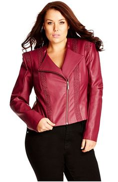 4a2ac8324c City Chic  Pretty Pleather  Faux Leather Jacket. Nordstrom Curvy Fashion