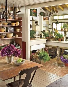 Kitchen With Attached Potting Area Love This Idea Or Maybe Sun Room Green House