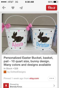 Easter basket idea.
