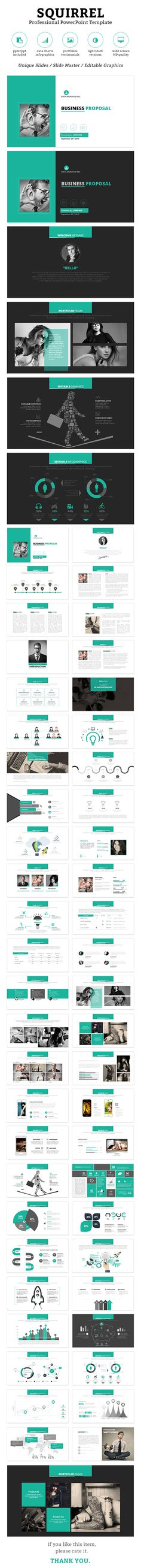 Squirrel PowerPoint Template #design #slides Download: http://graphicriver.net/item/squirrel-powerpoint-template/13058036?ref=ksioks
