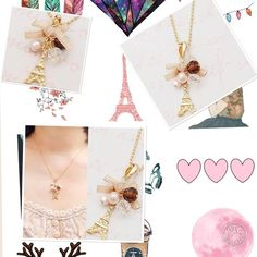 """Delicate Eiffel Tower necklace Delicate gold tone 16"""" chain with Eiffel Tower charm Jewelry Necklaces"""