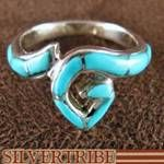 Sterling Silver And Turquoise Inlay Ring
