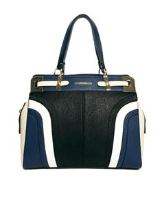 River Island Navy Curved Cutabout Tote Bag