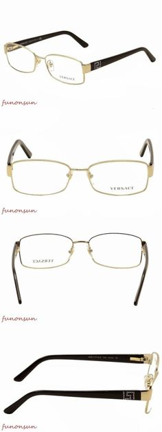 002e709ee90 Fashion Eyewear Clear Glasses 179240  Versace Eyeglasses Ve Mod 1177-B-M  1252 Gold Rectangle Frame 54Mm Made In Italy -  BUY IT NOW ONLY   97 on  eBay!