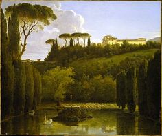 View of the gardens of the Villa Falconieri, Frascati, 1810, Pierre Athanase Chauvin